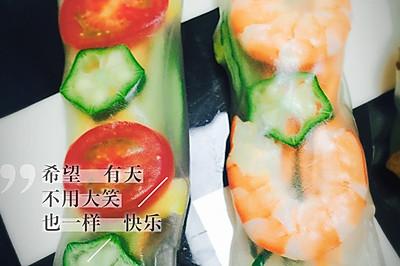 春卷时蔬海鲜五花肉