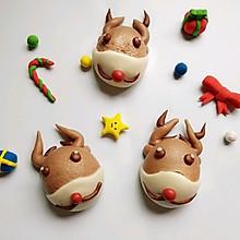 #令人羡慕的圣诞大餐#麋鹿豆沙包