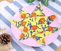 紫甘蓝蛋饼 宝宝辅食食谱的做法