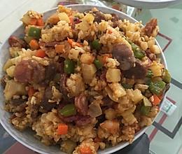 咖喱海鲜炒饭的做法