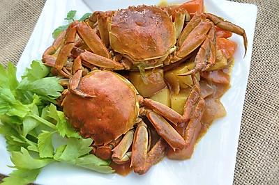 """咖喱蟹#""""蟹""""意浓浓在京东#"""