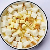 #带着零食去旅行!#酥脆软滑的蛋奶吐司布丁的做法图解8