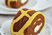 长颈鹿花纹奶油蛋糕卷的做法