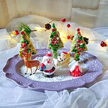 可爱的圣诞树华夫饼