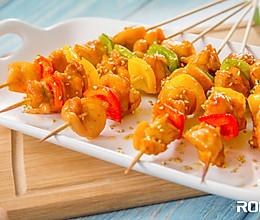 烤彩椒鸡肉串#烤箱R025#的做法