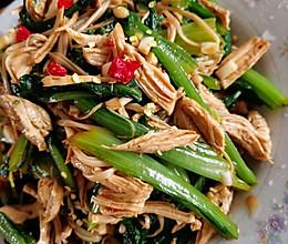 鸡胸肉拌油麦菜的做法