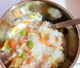 青豆鲜虾瑶柱粥的做法