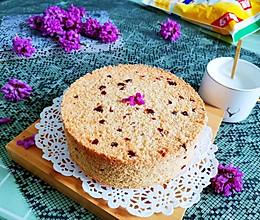 蔓越莓燕麦戚风蛋糕(无油无糖无面粉)的做法