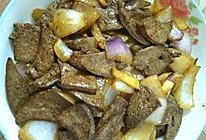 猪肝炒洋葱的做法