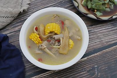 #洗手做羹汤#竹荪玉米土鸡汤