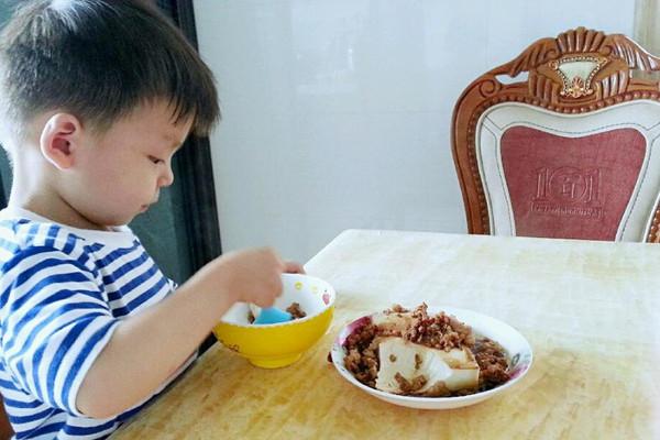 菜鸟也会做的之肉末豆腐的做法