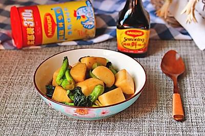 菜苔㸆年糕#美食美刻 乐享美极#