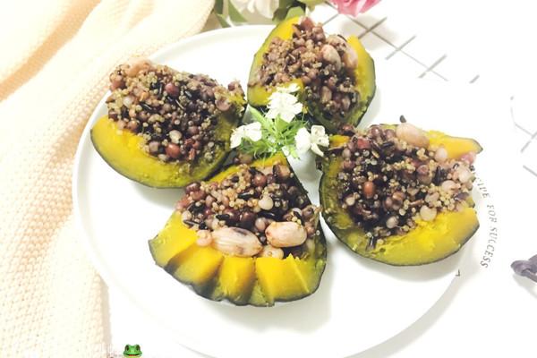 藜麦薏米南瓜盅#粗粮之美#的做法