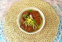 咸菜猪红汤的做法