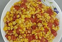 玉米粒炒番茄粒的做法