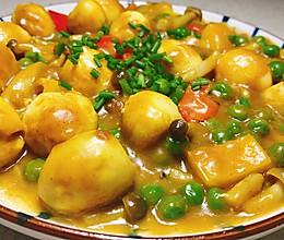 咖喱虎皮鹌鹑蛋的做法