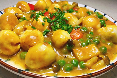 咖喱虎皮鹌鹑蛋