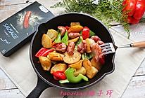 香煎香肠土豆的做法