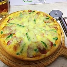 辰偲家的培根披萨(附独家披萨饼底制作)