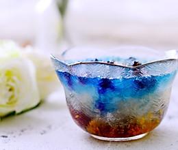 蓝色妖姬-美容养颜黑枸杞桂花燕窝的做法