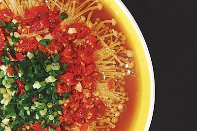 剁椒金针菇、