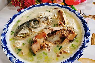 腊鱼头豆腐汤