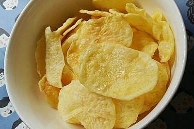 一次多做微波炉无油薯片【减肥同志的最爱】