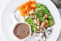 鸡胸肉南瓜椰肉沙拉的做法