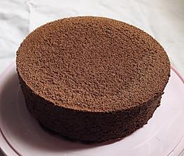 八寸巧克力戚风蛋糕的做法