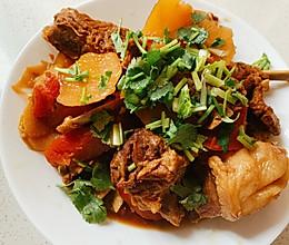 #憋在家里吃什么#双色萝卜烧羊排的做法