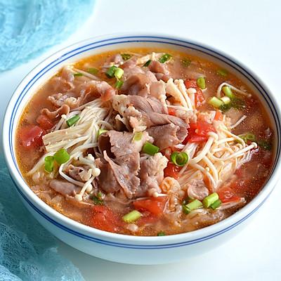 番茄金針菇肥牛湯
