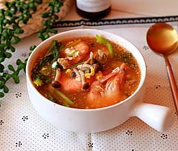 #秋天怎么吃#蟹味菇大虾双鲜汤的做法
