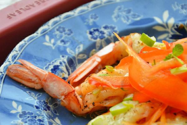 利仁电饼铛试用之黄油芝士虾的做法