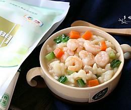 虾仁疙瘩汤#福临门暖冬宴幸福面#的做法