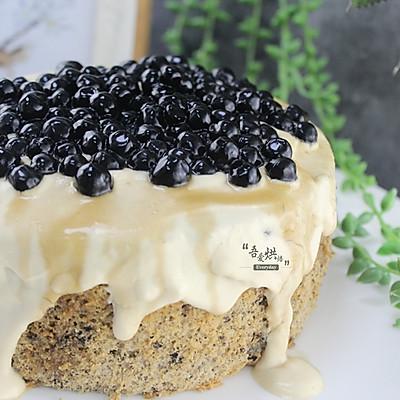 【网红食谱】黑糖珍珠酱爆蛋糕