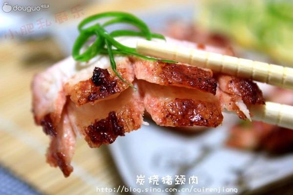 炭烧猪颈肉的做法