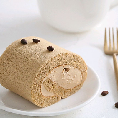 香浓咖啡奶油蛋糕卷,完美毛巾面