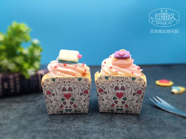【美食魔法】开学季课本书包奶冻裱花北海道戚风杯的做法
