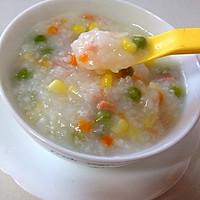 宝宝食谱:豌豆胡萝卜玉米火腿大米粥~的做法图解3