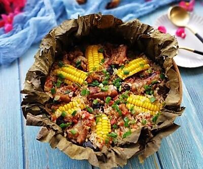 荷香玉米排骨饭