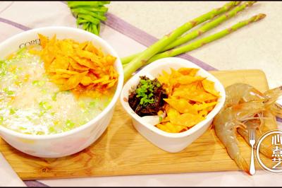 祛湿圣品简单做-虾滑薏米养生粥