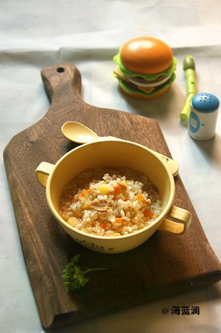 鲔鱼糙米粥
