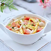 #换着花样吃早餐#海鲜菇鸡蛋汤