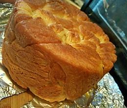圆形金砖面包(低糖型,纯手工和面,无面包机)的做法
