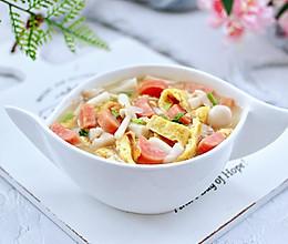 #换着花样吃早餐#海鲜菇鸡蛋汤的做法