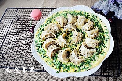 韭菜鸡蛋抱煎饺(附饺子包法)