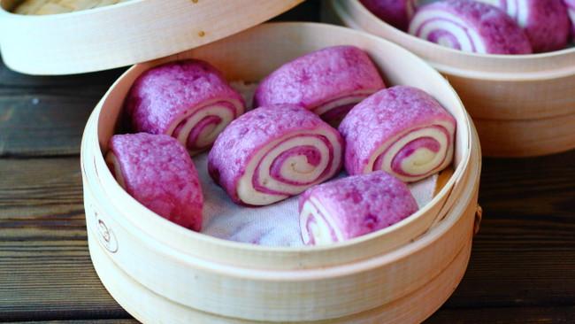 紫薯双色馒头的做法