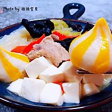 #福气年夜菜#猪肉白菜海胆丸豆腐粉丝汤