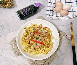 #巨下饭的家常菜#蟹棒炒蛋的做法