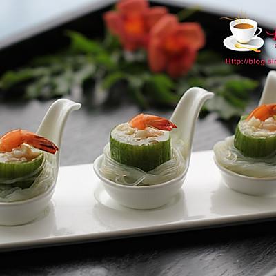 简单烹调就有好味道-----虾仁粉丝蒸丝瓜